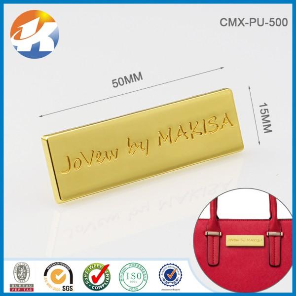 Custom Metal Bag Label