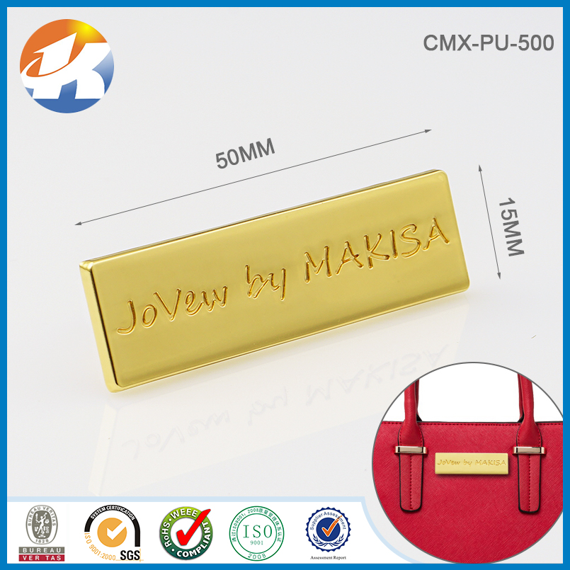 Gold Nameplates Label Prong Custom Brand Tag  Bag Wallet Personalized Name \u2013 Made to Order